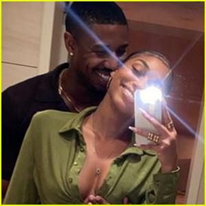 Lori Harvey & Michael B. Jordan Cuddle Up in a Cute Selfie