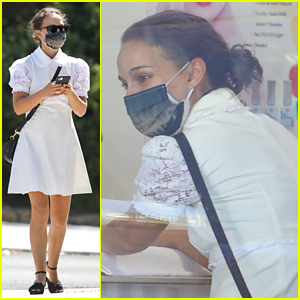 Natalie Portman Wears An Alien Mask While Spending Time With Daughter Amalia