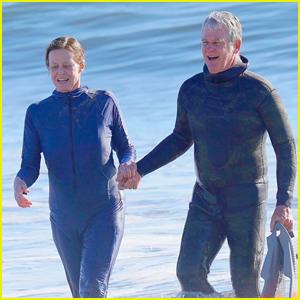 Sigourney Weaver & Husband Jim Simpson Hit the Beach During Rare Outing!