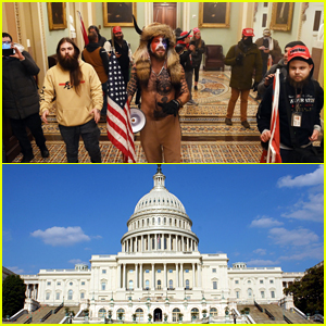 Pro-Donald Trump Protestors Storm U.S. Capitol Building, Breach Police Lines & Break Inside (Photos & Video)