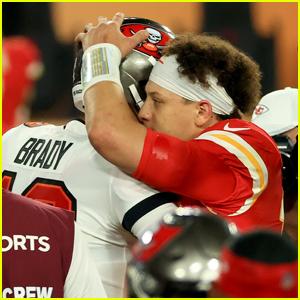 Tom Brady & Patrick Mahomes Share a Hug After Super Bowl 2021
