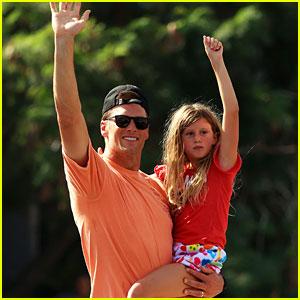 Tom Brady Brings Kids Vivian & Benjamin to Super Bowl 2021 Victory Parade (Photos)