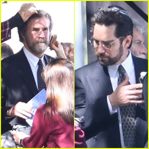 Will Ferrell & Paul Rudd Film a Jewish Funeral Scene for Upcoming Comedy Series 'The Shrink Next Door'