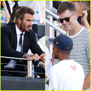 David Beckham Watches Inter Miami CF Soccer Game With Pal Tom Brady & More