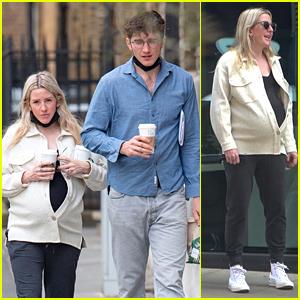 Pregnant Ellie Goulding Shows Off Baby Bump During Walk With Husband Caspar Jopling