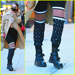 Gigi Hadid Rocks A Pair of Cool Sweats After a Photo Shoot in NYC