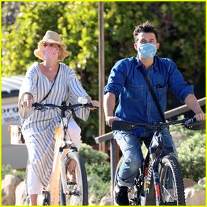 Katy Perry & Orlando Bloom Enjoy a Bike Ride Together in Santa Barbara