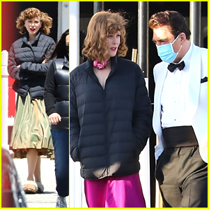 Nicole Kidman & Javier Bardem Channel Lucille Ball & Desi Arnaz In These New 'Being The Ricardos' Set Pics!