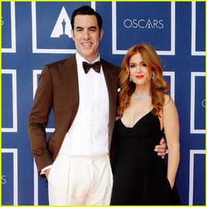 Sacha Baron Cohen & Isla Fisher Attend the Oscars 2021 from Australia!