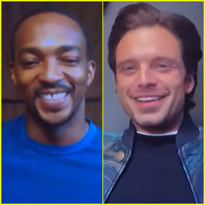 Sebastian Stan & Anthony Mackie Playfully Call Each Other Out During Live Interview!