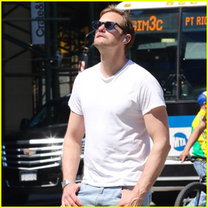 Alexander Skarsgard Basks in the Sun While Out for the Day