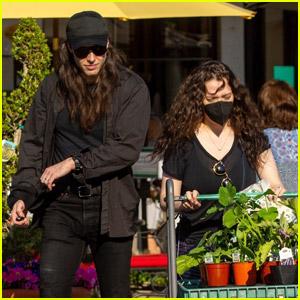 Kat Dennings & New Fiance Andrew WK Go Plant Shopping in Studio City
