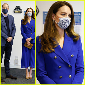 Kate Middleton Wears Royal Blue For Official Scotland Visit With Prince William
