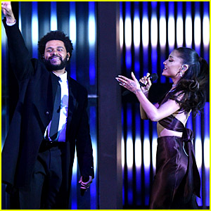 Ariana Grande Wears Wedding Ring While Performing with The Weeknd at iHeartRadio Music Awards 2021!