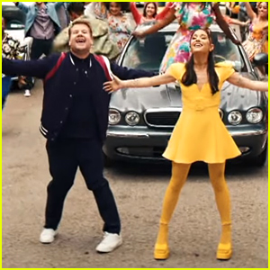 Ariana Grande Joins James Corden To Celebrate The End of Lockdown With New Musical Performance