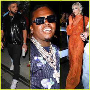 Drake & Doja Cat Attend Gunna's Birthday Party in Hollywood