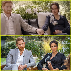 Prince Harry & Meghan Markle's Oprah Interview Is Mirrored In First Look at Lifetime's Third Movie About The Couple