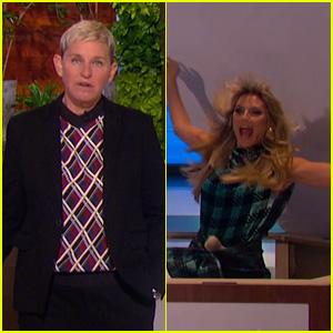 Heidi Klum Hilariously Fails at Scaring Ellen DeGeneres - Watch Here!