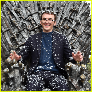 Isaac Hempstead-Wright Celebrates the Unveiling of 'Game of Thrones' Iron Throne in Leicester Square