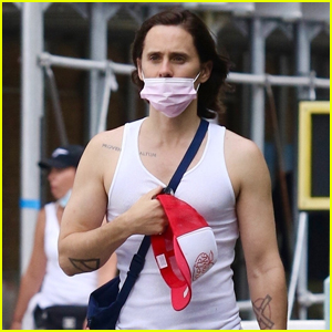 Jared Leto Sports Tight Tank Shirt for Walk Around NYC