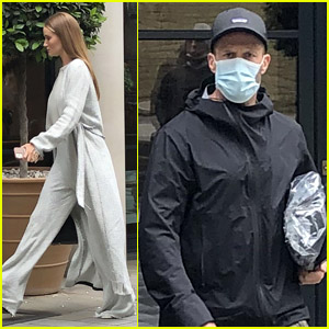 Jason Statham & Rosie Huntington-Whiteley Spotted Leaving Their London Hotel Together