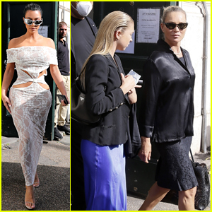 Kim Kardashian Meets Up with Kate Moss to Visit the Vatican