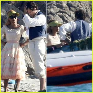 Halle Bailey & Jonah Hauer-King Seem to Be Filming Iconic 'Little Mermaid' Scene in These New Set Photos!