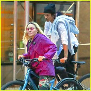 Madonna & Boyfriend Ahlamalik Williams Go for a Bike Ride Together in NYC