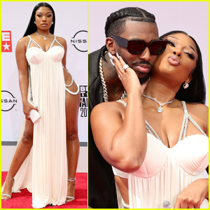 Megan Thee Stallion Cozies Up to Boyfriend Pardison Fontaine at BET Awards 2021
