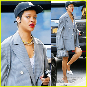 Rihanna Shows Off Her Long Legs While Out & About in NYC