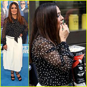 Salma Hayek Grabs Some Popcorn at 'Hitman's Wife's Bodyguard' London Premiere