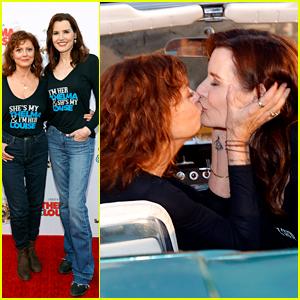 Geena Davis & Susan Sarandon Share A Kiss At 'Thelma & Louise' Screening!
