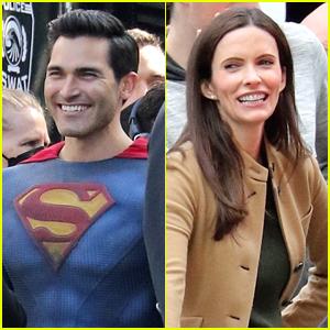 Tyler Hoechlin & Bitsie Tulloch Are All Smiles on Set for the 'Superman & Lois' Season Finale
