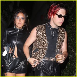 Yungblud & Girlfriend Jesse Jo Stark Rock Leather Outfits for Night Out!