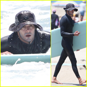 Adam Brody Slips Into Wetsuit for Afternoon of Surfing in Malibu