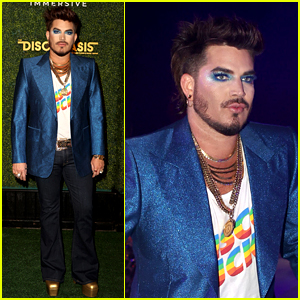 Adam Lambert Goes Roller Skating at a Disco Dance Party in L.A.