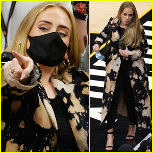 Adele Makes Rare Appearance Sitting Courtside at NBA Finals 2021!