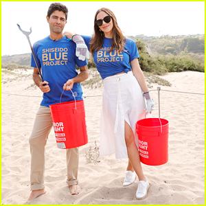Katharine McPhee Helps Clean The Beach With Adrian Grenier