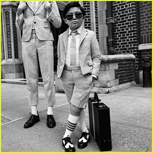 'Minari' Actor Alan Kim Stars in Fashion Campaign for Thom Browne!