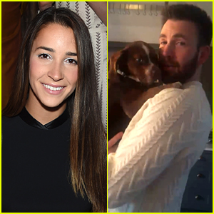 Aly Raisman's Dog Mylo Goes Missing, Chris Evans Supports the Search Efforts
