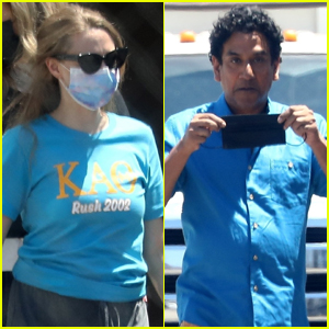 Amanda Seyfried Films Upcoming Elizabeth Holmes Series 'Dropout' with Co-Star Naveen Andrews