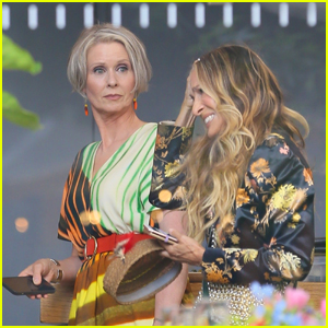 Sarah Jessica Parker & Cynthia Nixon Continue Filming 'And Just Like That' at Whitney Museum
