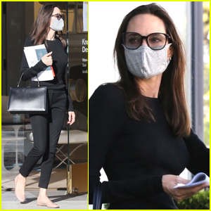 Angelina Jolie Spends Her Saturday Afternoon Furniture Shopping