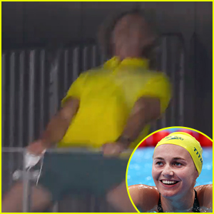 Team Australia's Ariarne Titmus Swim Coach Goes Wild After She Wins Gold In 400m Freestyle