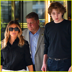 Barron Trump Spotted in Rare New Photos with Melania Trump, Buzz About His Height Goes Viral