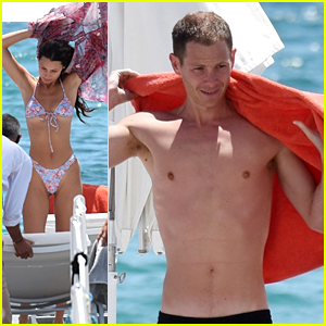 Bella Hadid & Boyfriend Marc Kalman Enjoy Warm Weather By The Sea With Iris Law