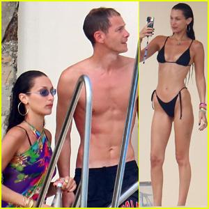 Bella Hadid & Rumored Boyfriend Marc Kalman Show Off Their Beach Bodies!