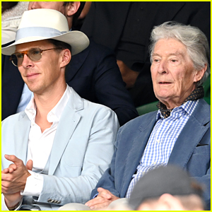 Benedict Cumberbatch Brings Dad Timothy Carlton To Wimbledon Match