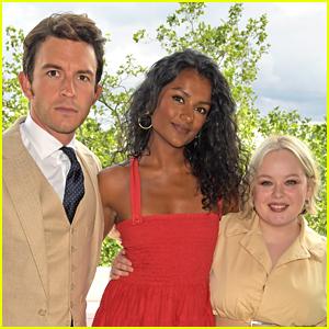 Bridgerton's Newest Star Simone Ashley Joins Jonathan Bailey & Nicola Coughlan at Wimbledon!