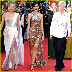 Sharon Stone, Gemma Chan, Tilda Swinton, & More Attend Cannes 2021's Closing Ceremony